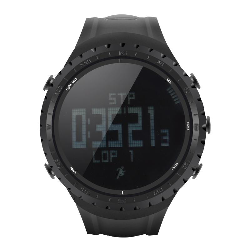 None  Fishing tool FR801 Sports Watch Waterproof Pedometer Calorie Counter Thermometer Barometer Altimeter Digital Compass