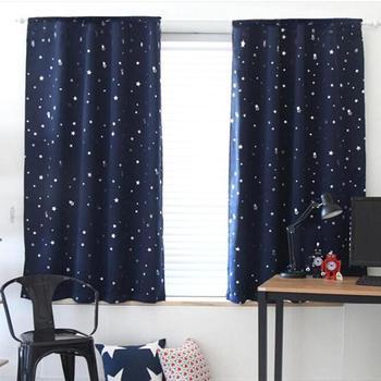 Блестящие светонепроницаемые занавески со звездами для детей, для мальчиков и девочек, для спальни, гостиной, на окно, занавески, затемняющи...