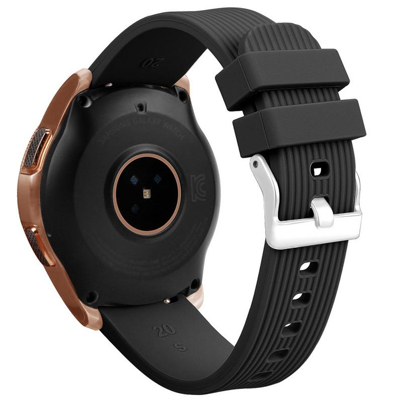 Image 4 - Silicone Bracelet Band 20MM Universal Wrist Strap Replacement Sports Smart Watch Watchband For Samsung Galaxy Long Lasting-in Smart Accessories from Consumer Electronics