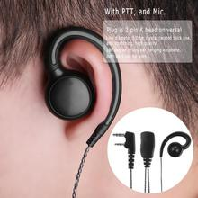 Alloyseed 180 Graden Draaibare Oorhaak Oortelefoon Headset Met Microfoon Ptt Voor Motorola Boafeng 2 Way Radio Walkie Talkie UV 5X Cb radio