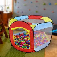 Hexagonal Ball Pool Play Tent Kids Play House Toy Game Tents for Children Toddlers Garden Park Indoor Outdoor Fun