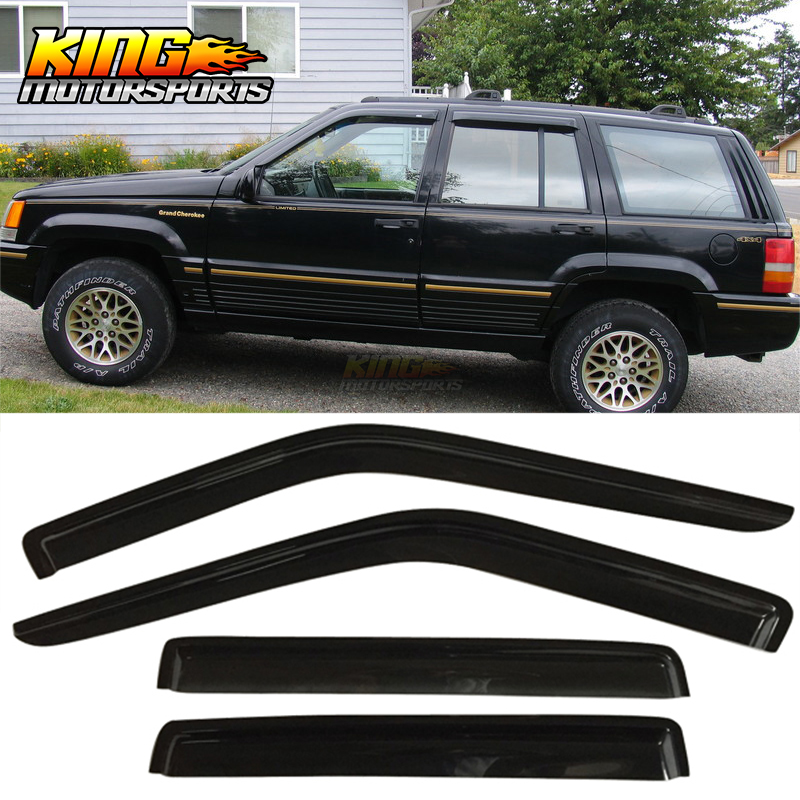 Sun//Rain//Wind Guards Vent Shade Deflectors Window Visor 4Pc 84-01 Jeep Cherokee