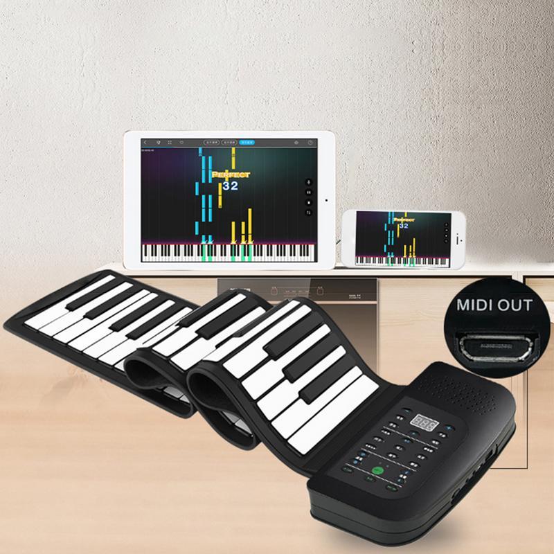 88 touche Piano Électronique Clavier 88 Touches Flexible Roll-up Piano Épaissie Midi Souple Clavier Piano avec US EU UK plug