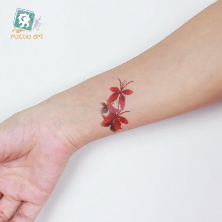 Rc 082nuevo 2018 Impermeable Desechable Tatuaje Azul Naranja