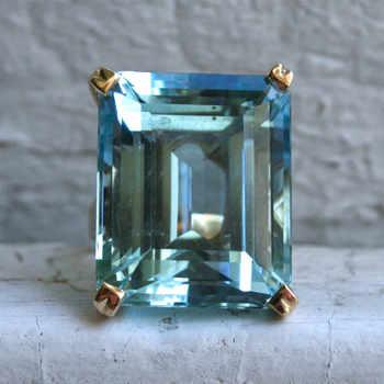 Sea Blue Topaz Stone Princess Diamond Ring Engagement Sapphire Ring 14K gold Anillos for women Bizuteria jade diamond jewelry - DISCOUNT ITEM  52% OFF All Category