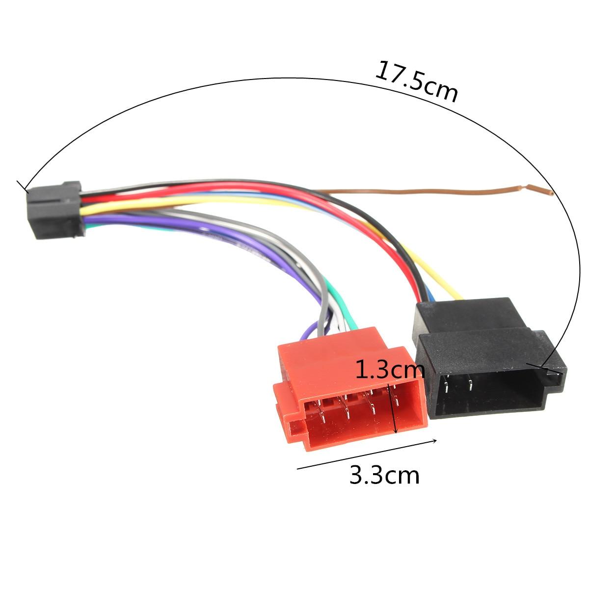 16 Pin Car Stereo Radio ISO Wiring Harness Connector Cable ... Kenwood Iso Wiring Harness on kenwood remote control, kenwood wiring-diagram, kenwood power supply, kenwood ddx6019, kenwood instruction manual,