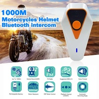 2PCS 1000M Bluetooth 3.0 EDR Waterproof Motorcycle Helmet Interphone Intercom Radio Headset Intercom moto Motorcycle Intercom