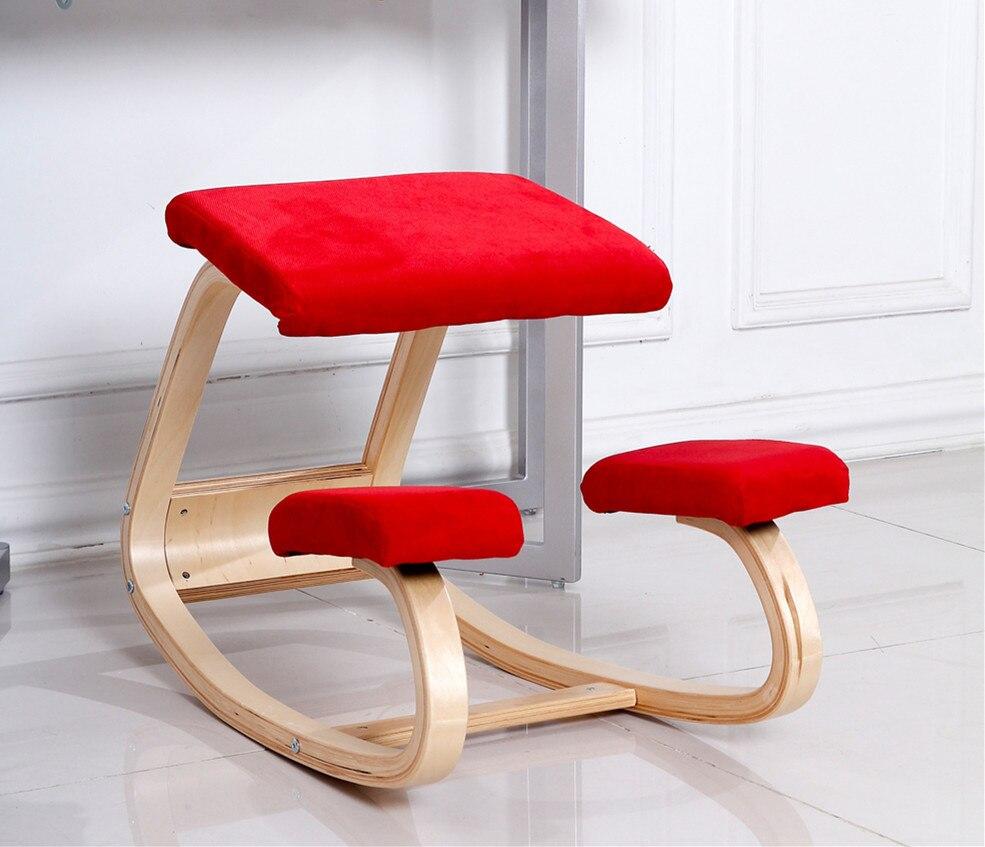 Купить с кэшбэком Original Ergonomic Computer Desk Kneeling Chair Stool Home Office Furniture Wood Ergonomic Kneeling Posture Support Chair Design