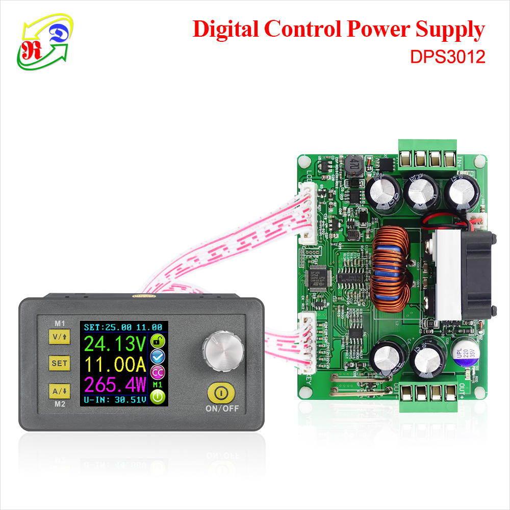 RD DPS3012 Constant Voltage Current Step-down Programmable Power Supply Module Buck Voltage Converter LCD Voltmeter 32V 12A