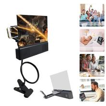 Universal Mobile Phone 3D Screen HD Video Amplifier Magnifying Glass Stand Holder With Bluetooth Speaker