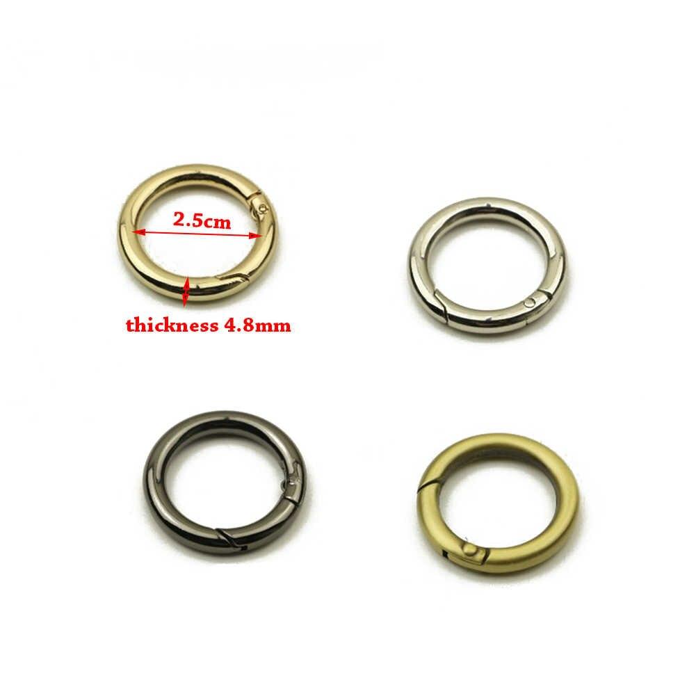 1PC חדש מתכת O טבעת פתיח טבעת וו תיק חגורת רצועת אבזם 2019 באיכות גבוהה כלב שרשרת הצמד אבזם קליפים עגול תיק אבזרים