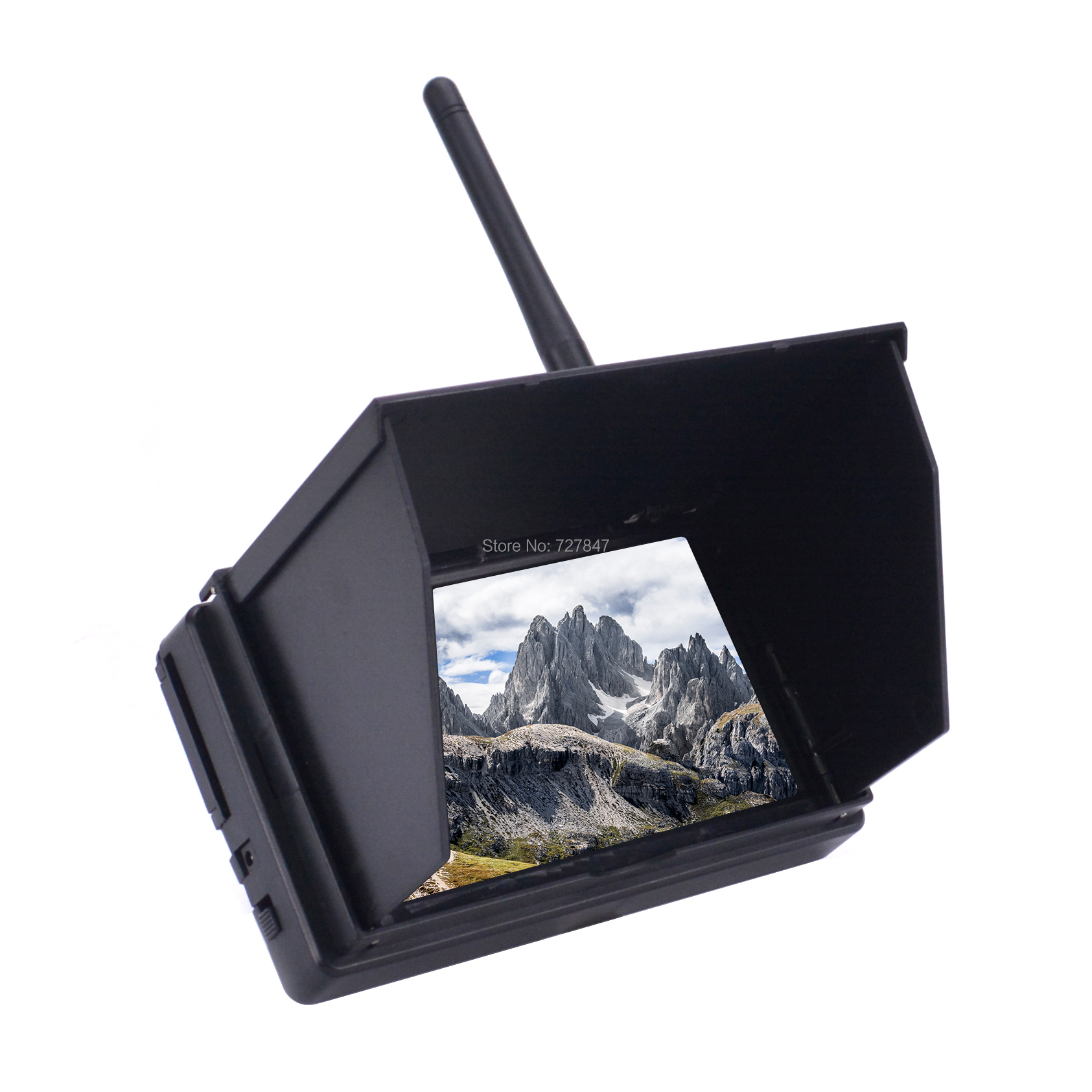 NEW 5.8G 48CH 4.3 Inch LCD 480x22 pixels 16:9 NTSC / PAL FPV Reciever Monitor Auto Search With OSD Build-in Battery