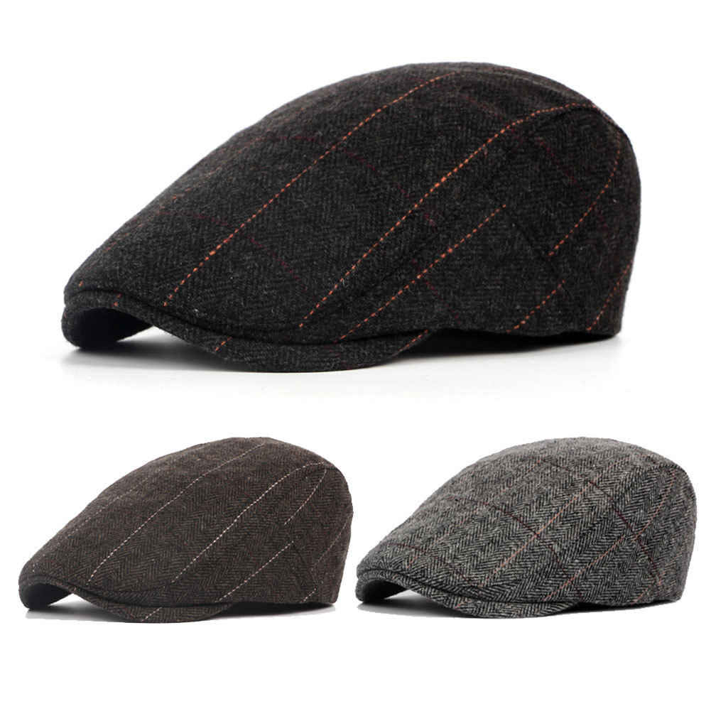 782e84c1486 Detail Feedback Questions about Thefound 2019 Fashion Mens Flat Cap Beret  herringbone Newsboy Bakerboy Hat Gatsby Peaky Blinders on Aliexpress.com