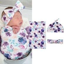 Спальные мешки из 3 предметов; детское муслиновое хлопковое Пеленальное Одеяло с цветочным рисунком; Пеленальное полотенце для новорожденных