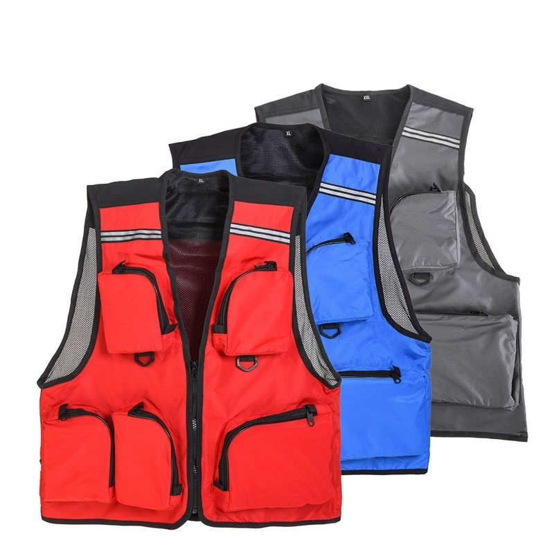 Outdoor Thin Muti-pockets Fishing Vest Outdoor Photography Life Safety Vest Flying Fishing VestOutdoor Thin Muti-pockets Fishing Vest Outdoor Photography Life Safety Vest Flying Fishing Vest