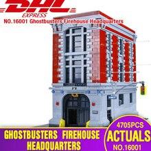 DHL Лепин 16001 4705 шт. Охотники за привидениями Firehouse штаб-квартира модель развивающие строительные наборы Модель Набор brinquedos Legoings 75827