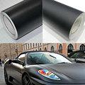 50*126 cm Matte Black Vinyl Film Wrap Car DIY Sticker Vehicle Decal 3D Car Matte Matte Black Body Color Film