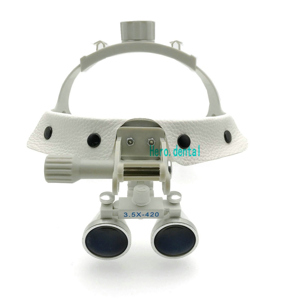 3.5X-420 dentaire chirurgical médical bandeau binoculaire Loupes loupe blanc - 2