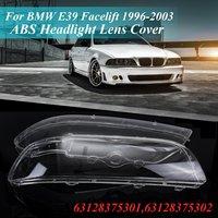 Пара для BMW 5 серии E39 1996-2003 фары автомобиля прозрачные линзы автомобильный брелок крышка 63128375301 63128375302
