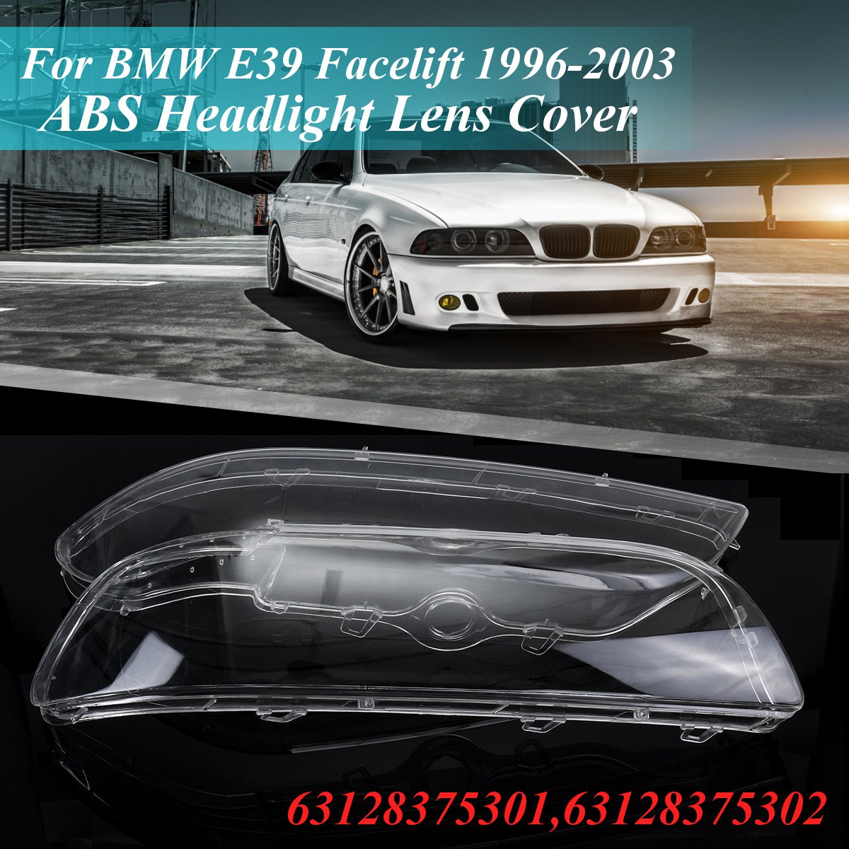 New Set of 2 LH /& RH Engine Under Cover Splash Shield For BMW 740i 1995-1998