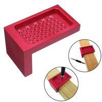 Mini regla para carpintería de acero de aleación de 68x40mm, herramienta de medición portátil T50 con forma de T