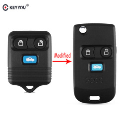 KEYYOU 3 Buttons Remote Key Case Shell Fob Folding Flip For Ford Transit MK6 Connect 2000 2001 2002 2003 2004 2005 2006 Shell