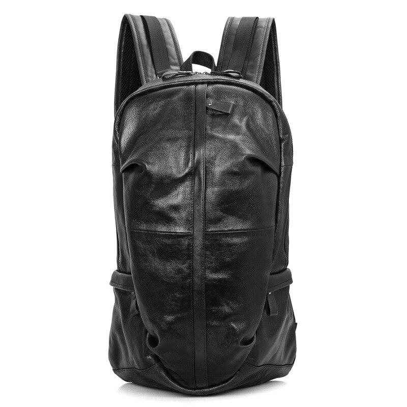 Mochila escolar de marca para niños y niñas, mochila de cuero de vaca a prueba de agua para hombre, mochila de viaje para ordenador portátil-in Mochilas from Maletas y bolsas    2