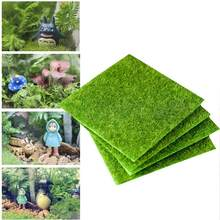 4Pcs Life-like Fairy Artificial Grass Artifical Vivid Bright Grass Decoration Miniature Ornament for Microlandscape Garden Craft(China)