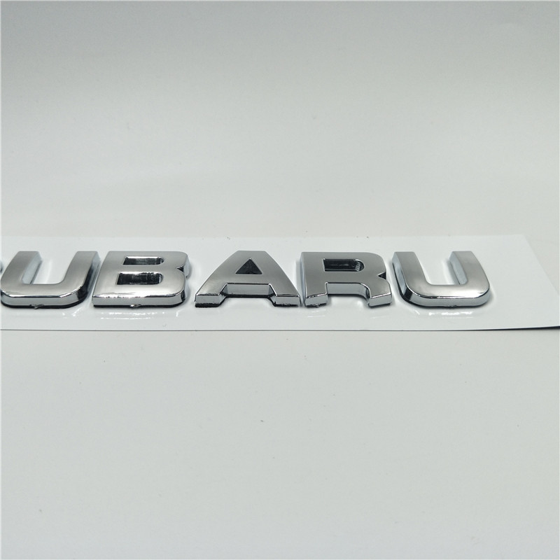 Acrylic Custom Badge Emblem For Forester Black White Front Rear Fifth Generation