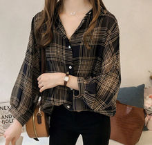 Summer Women Shirts 2019 New Plus Size Casual Long Sleeve Loose Plaid Blouse M-4XL