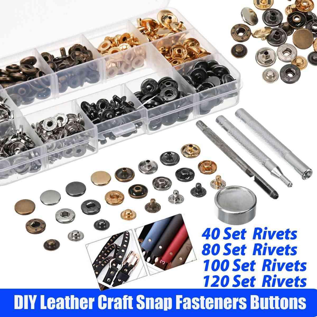 Kit de botones de plástico T5 de 360 Uds. + pinzas de cierre profesional, herramienta de costura