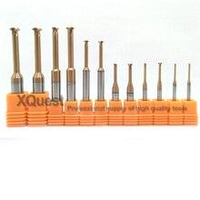 XQuest олова карбида вольфрама с покрытием алюминий фреза для нарезания резьбы сердцевина 0,3-0,6 0,4-0,8 0,5-1,0 ЧПУ одной зубов нить фрезы P 0,75 2