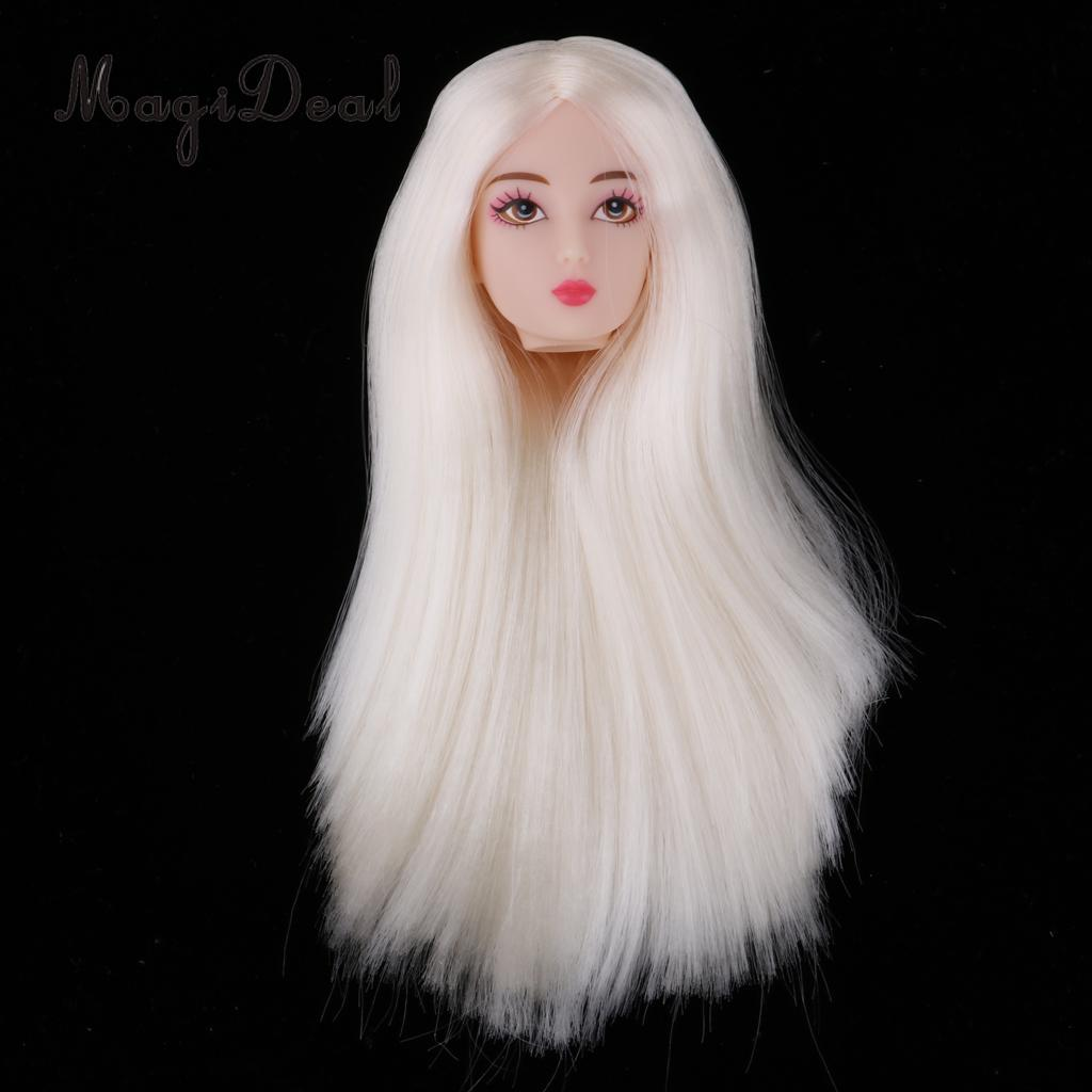 Dolls & Stuffed Toys Kind-Hearted 1/6 Female Action Figures Bjd Head Sculpt White Hair Diy Custom For Dod Sd Dd Dollfie Accessories