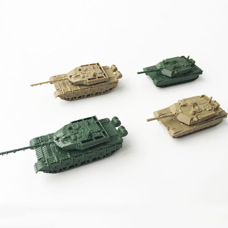 4x 4D Plastic Mini MORDEN US M1A2 TANK AND CHINA 99 TANK 1/144 Scale Heavy Duty