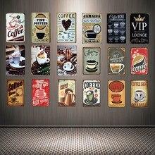 [ Mike86 ] Menu Coffee Shop Black Cafe Vip Tin Sign Custom Poster Personality Classic Metal Painting Decor Art ZZ-05
