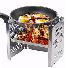 Складная плита для барбекю, кемпинга, дровяная походная плита для пикника, барбекю плита/Портативная Складная плита из нержавеющей стали для альпинизма