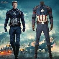 Мстители эндшпиль Костюм Капитана Америка Steven Rogers Косплэй взрослых полный набор сапоги Хэллоуин Рождество карнавал супергерой Вечерние