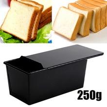 1pc18. 7X10,8X9,5 см черный Хлебница с крышкой антипригарный прямоугольный для хлеба буханка Кондитерские коробки для торта противень для выпечки подходит для домашней кухни