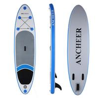 ANCHEER 305 * 76 * 15cm Inflatable Surfboard Stand Up Paddle Board iSUP with Adjustable Paddle Backpack Surf Board Paddle Boat