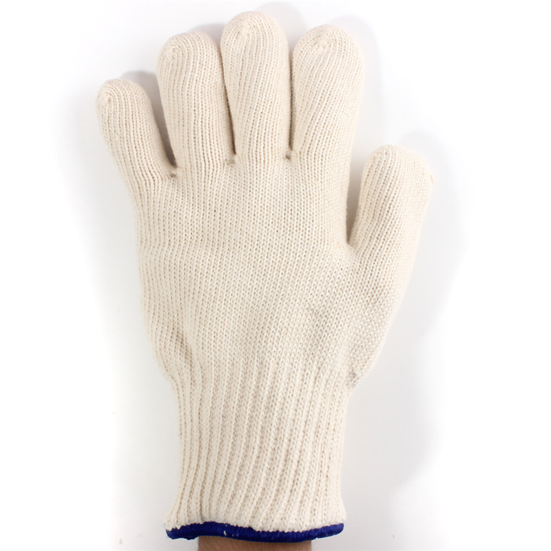 Image 2 - High Quality Thicken Double Cotton 500 Celsius Super Heat Resistant Anti Burn Heatproof Gloves Oven Kitchen White-in Safety Gloves from Security & Protection