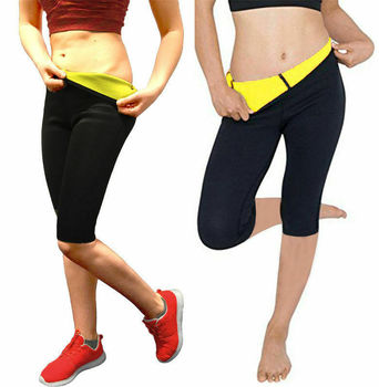 2019 New Style Fashion Hot Patchwork Women Slimming Pants Hot High Waist Body Yoga Fat Burner Sport Yoga Legging image