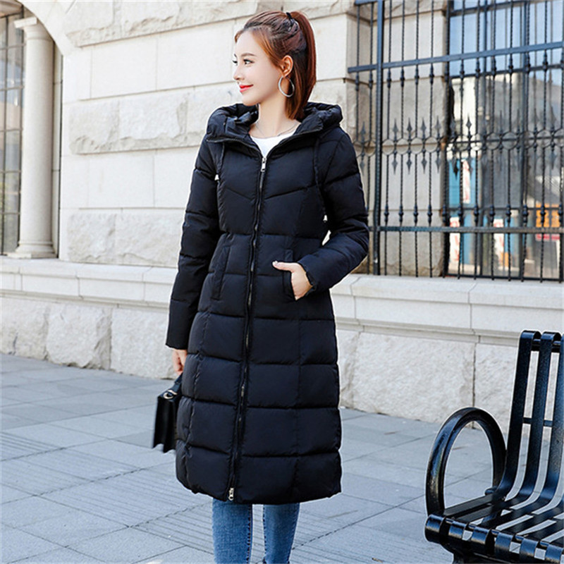 M-6XL Plus Size Winter Down Jackets Women Fashion Thicken Warm   Parkas   Cotton Outwear Long Slim Coats Female Winter Outwear   Parka