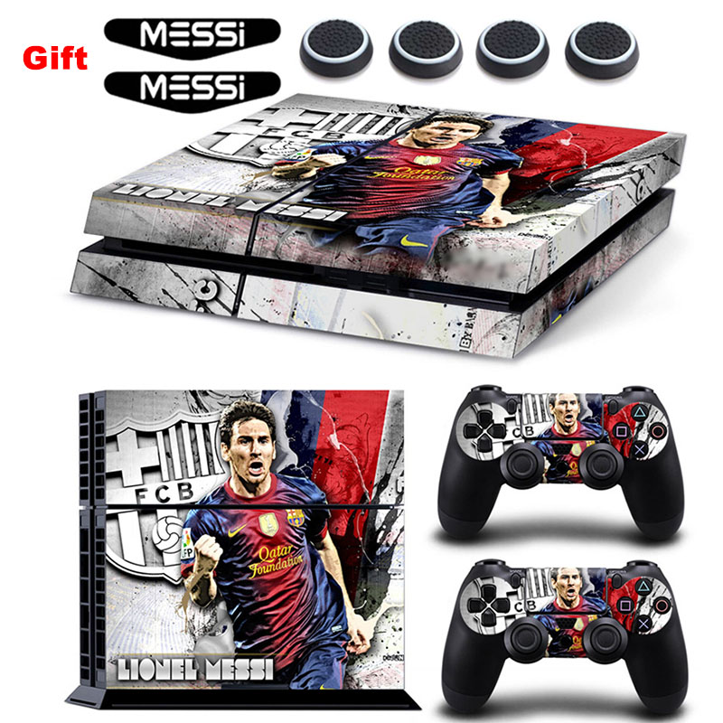 MESSI Vinyl Sticker Decal For Sony Playstation 4 PS4 Console Protective Skin & Light Bar Stickers & Silicone CapsMESSI Vinyl Sticker Decal For Sony Playstation 4 PS4 Console Protective Skin & Light Bar Stickers & Silicone Caps