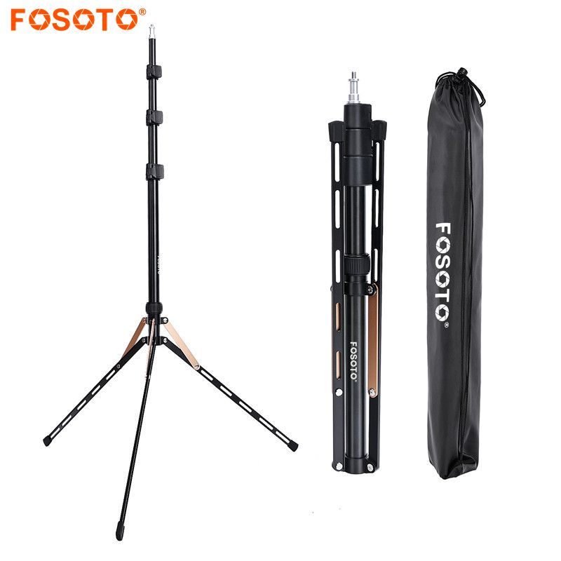 Fosoto FT 190 Gold Led Light Tripod Stand Bag Head Softbox For Photo Studio Ring Photographic Lighting Flash Umbrellas Reflector
