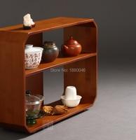 New arrival Bamboo wood Tea Rack Teaware shelf teapot shelf Tea Trays Tea Saucer Chinese teacup collection Crafts display tray