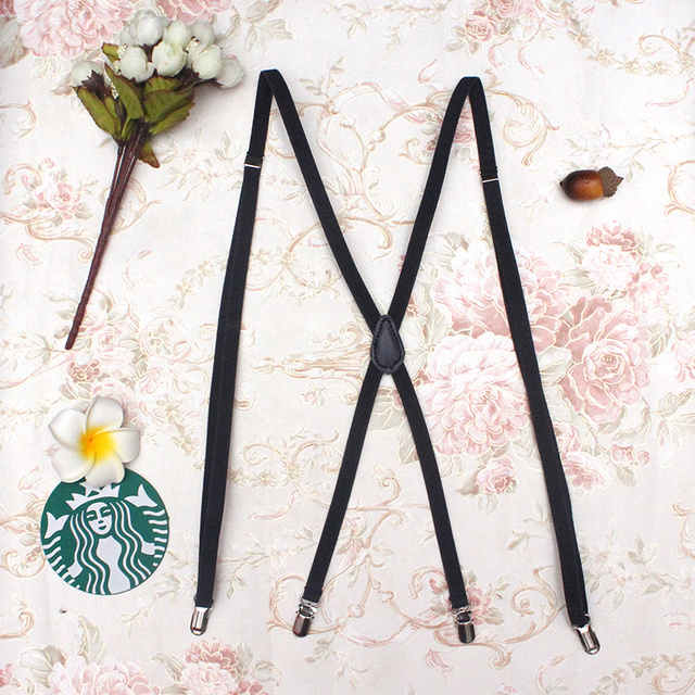 1cm/0.39inch width X-back creative unisex women's skinny suspender slim Handmade brace Cutie Creative Slim Thin Body 4