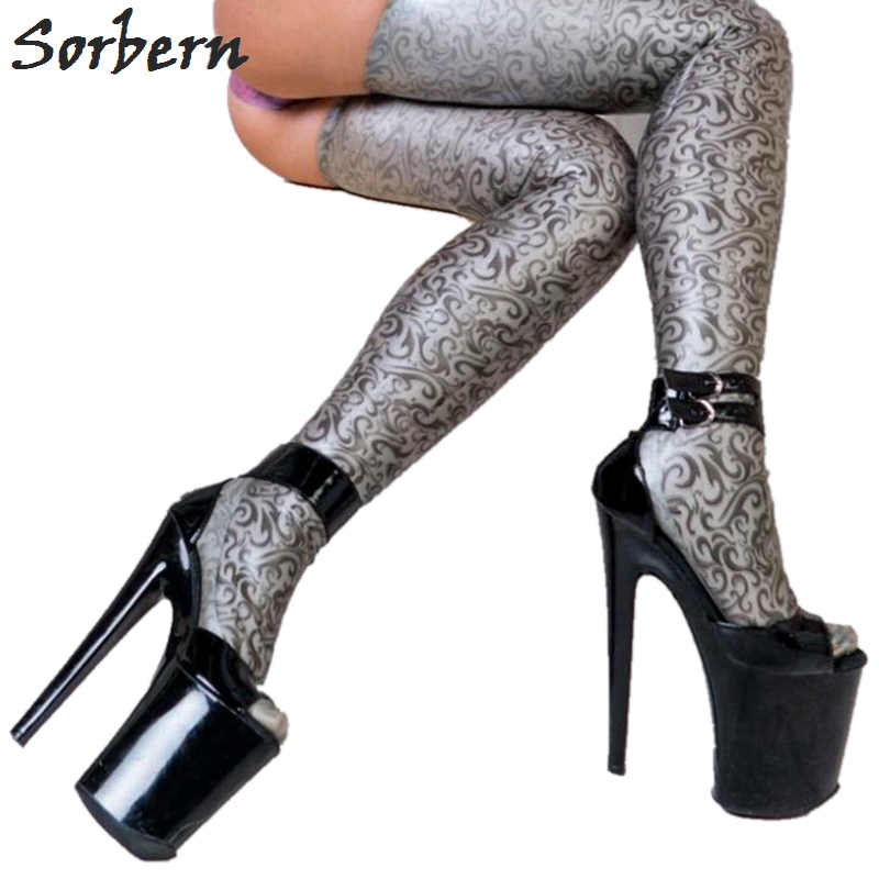 a9d9257465a Sorbern Sexy Ankle Straps Peep Toe Women Pumps 20Cm High Heels 10Cn ...