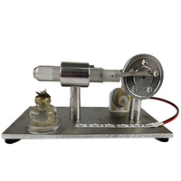 Stirling Engine Glass Hot Single Cylinder Color Bank Light External Combustion Heat Steam Engine Model Physics Experiment Toy