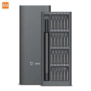 Image 1 - Xiaomi Kit de destornilladores de precisión Mijia Wiha 24 en 1, brocas magnéticas de 60hrc, herramientas de reparación para el hogar