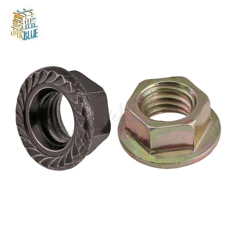 Free Shipping M3 M4 M5 M6 M8 M10 M12 Color Zinc Hexagonal Flange Nut / Flower Nut / Anti-skid Anti-loose